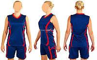 Форма баскетбольная женская Atlanta CO-1101-BL (синий), Синий, M