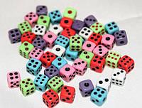 Супер маленькие кости- кубики! Красочные цвета! 5 мм