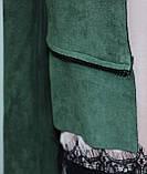 Кардиган женский, длинный/короткий, зеленый, фото 8