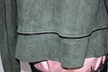 Кардиган женский, длинный/короткий, зеленый, фото 10