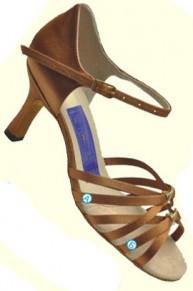 Туфли танцевальные женские латино сатин декоративная пряжка!