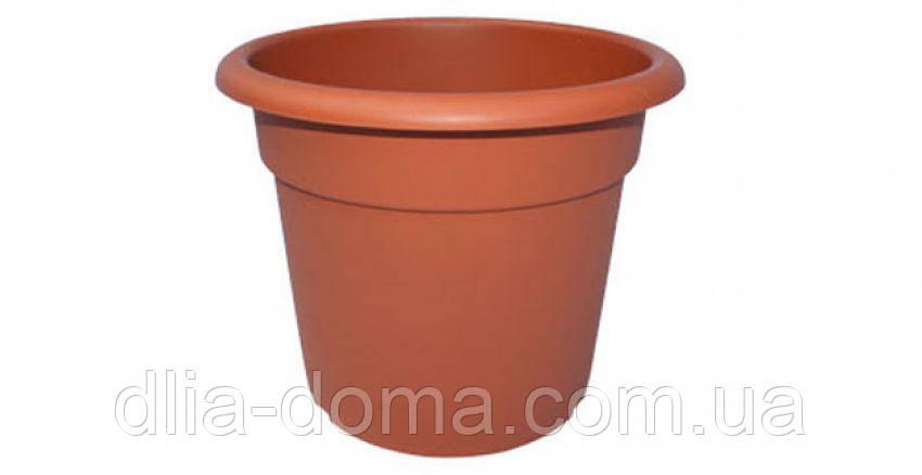 Горшок для цветов, гладкий, диаметр 22 см,7003
