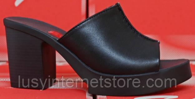 3618c0454 Летние сабо кожаные на каблуке, летняя женская обувь от производителя  модель СТЛ30, фото 2