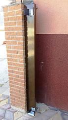 Притворный столб для алюминиевыех откатных ворот Алютех. Изготовлен из алюминиевого профиля. Заводская покраска в коричневый RAL 8014