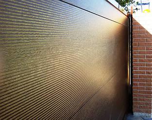"Сендвич панель ""микроволна"". Тип поверхности woodgrain (тиснение под дерево)."
