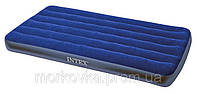 Односпальный надувной велюровый матрас Intex 68950 76х191х22 см интекс