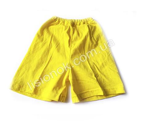Шорты детские желтые 98-110см, хлопок