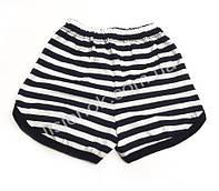 Шорты детские, хлопок, 1-2 года бело-черная полоска