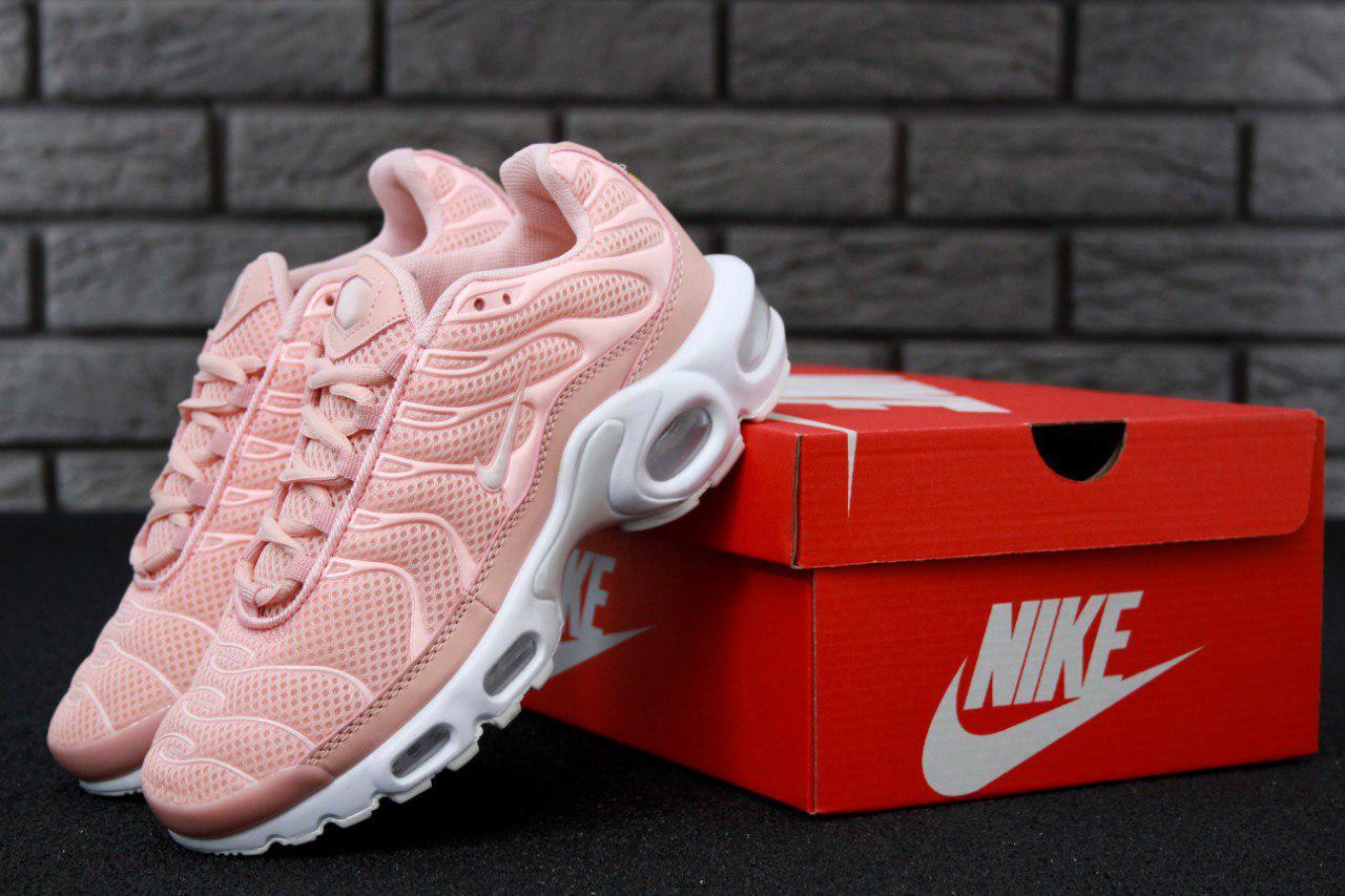 Кроссовки женские Nike Air Max TN Plus Pink топ реплика