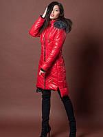 Приталенная удлиненная куртка на зиму