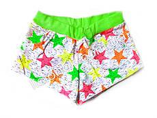 Шорты для девочки, хлопок 98-110см, Зеленые звезды