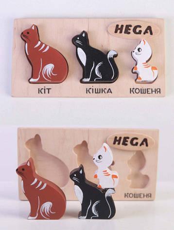 "Набор фигурок-вкладышей ""Коты"", фото 2"