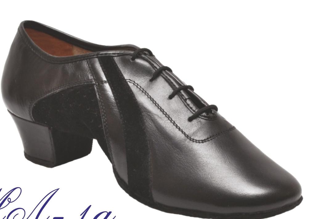 Туфли танцевальные мужские Латино из натуральной кожи лака !
