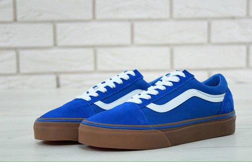 901bc5dc4616 Кеды женские Vans Old Skool Blue Gum синие топ реплика