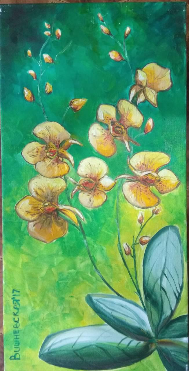 Картина маслом Орхидеи