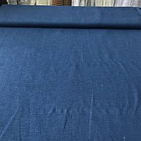 Лён цвета тёмно-синий джинс, ширина 150 см