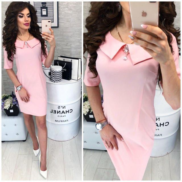 Сукня жіноча, модель 811, колір Світло-рожевий / пудра