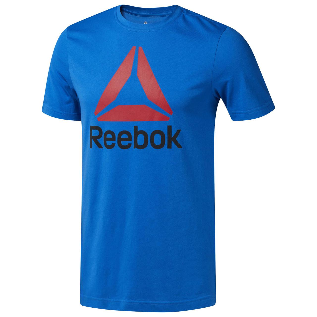Оригинальная мужская футболка Reebok QQR- REEBOK STACKED