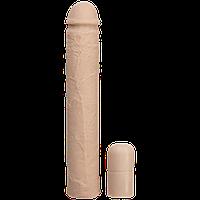 Удлиняющая насадка на член Doc Johnson Xtend It Kit White +6 см, 22х3,8 см.