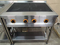 Плита 4-х конфорочная электрическая без духовки