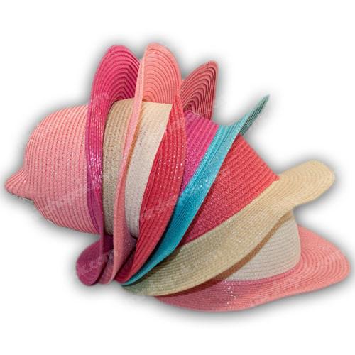 Детская соломенная шляпа с ушками