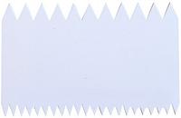 """Шпатель-скребок кондитерский """"Зубчики"""" 10,8 см пластик, арт. Э-8115"""