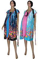 Ночная рубашка и халат для беременных и кормящих 03253 Vesviol, р.р.42-54