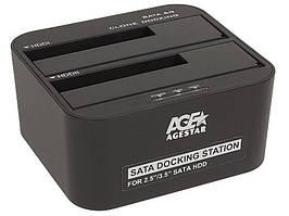 "Док-станция AgeStar 3UBT6-6G для 2.5""/3.5"" SATA HDD или SSD USB3.0 Black"