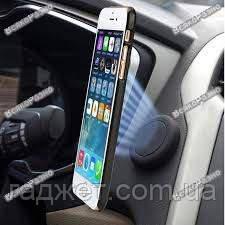Магнитный держатель черного цвета для телефона в машину на скотче OTAO, фото 2