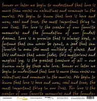 Бумага для скрапбукинга с золотым тиснением Golden Script Black, 30х30 см