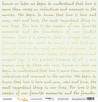 Бумага для скрапбукинга с золотым тиснением Golden Script Mint, 30х30 см