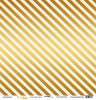 Бумага для скрапбукинга с золотым тиснением Golden Stripes Mint, 30х30 см