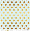 Бумага для скрапбукинга с золотым тиснением Golden Dots Blue, 30х30 см