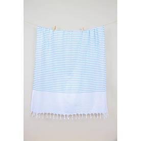 Полотенце Barine Pestemal - White Imbat 90*170 Mint ментоловое