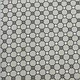 Декоративная ткань для штор, геометрический принт, бело-серый, фото 2