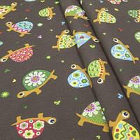 Декоративная ткань для штор, черепашки