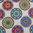 Декоративная ткань для штор, яркие круги, фото 2