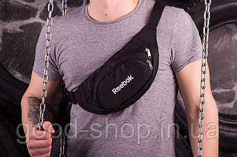 Поясная сумка Reebok черного цвета