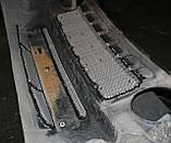 Декоративно-защитная сетка радиатора Jeep Patriot фальшрадиаторная решетка, бампер, фото 3