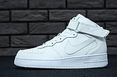 Женские кроссовки Nike Air Force 1 High White топ реплика, фото 2
