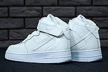 Женские кроссовки Nike Air Force 1 High White топ реплика, фото 3