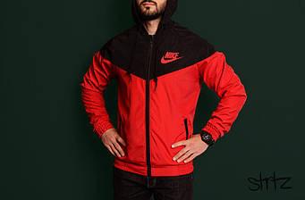 Мужская ветровка Nike красного и черного цвета