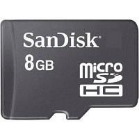 Карта памяти 8Gb microSDHC class 4 SANDISK (SDSDQM-008G-B35N/SDSDQM-008G-B35)