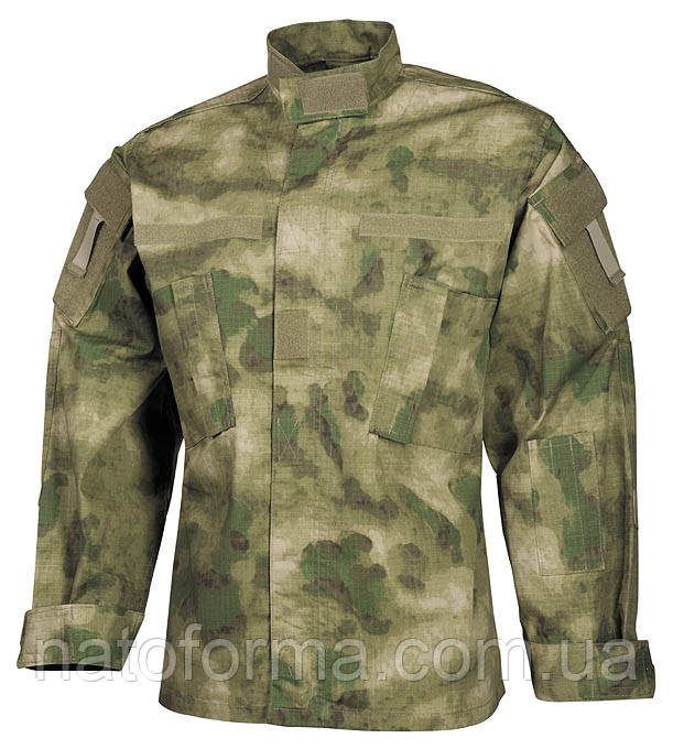 Китель, рубашка в покрое ACU, расцветка A-Tacs FG, Rip-Stop (от компании МFH), военная форма, реплика.