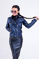 Женская стильный кожаная куртка Косуха в расцветках
