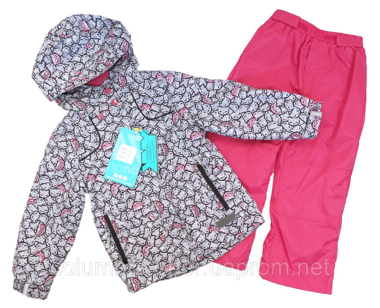 Демисезонный костюм для девочек Nano 266 M S18 Gray Mix. Размер 74-132.