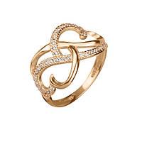 Золотое кольцо Мьянма с кристаллами циркония 000057990