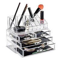ТОП ЦЕНА! Органайзер для косметики акриловый, коробка для косметики, прозрачный органайзер для косметики, шкатулка для косметики, косметичка