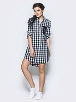 Стильная женская хлопковая длинная рубашка с рукавом 3/4 7029/5, фото 1