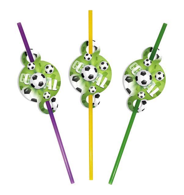 """Коктейльні трубочки з гофрою """"Футбол"""", 8 шт/уп."""
